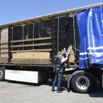 Camion dei contrabbandieri confiscati: un mezzo assegnato alla Protezione Civile