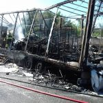 Camion a fuoco sulla A4 fra Redipuglia e Lisert in direzione Trieste