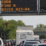 Previsioni di traffico per il week end: sabato 1° settembre da bollino nero