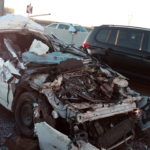 Automobile sotto a un camion in A4. Ferito gravemente il conducente