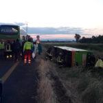 A4: si ribalta autobus della Flixbus, una ventina i feriti. Traffico in aumento per vacanze di Pentecoste