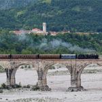 Inaugurazione dell'intera tratta ferroviaria Sacile – Gemona con la locomotiva a vapore