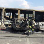 Incendio distrugge completamente gli uffici di cantiere di Autovie: nessun ferito. Lavori vanno avanti