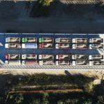 Collaudo del nuovo ponte sul Tagliamento con 24 camion per mille tonnellate di carico