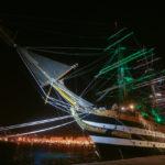 Nave Vespucci a Trieste per la Barcolana del 50°: orari di visita e fotogallery notturna