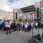 """A Trieste 2000 musicisti in piazza Unità per l'evento """"2000 flauti 2000 vele"""": le foto"""
