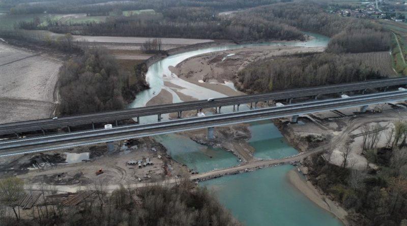 A4: aperto al traffico il nuovo ponte sul Tagliamento