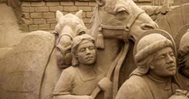 Presepe di sabbia di Lignano: il tema è il Cantico delle Creature di Francesco d'Assisi