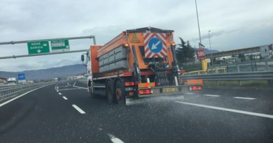 Deciso abbassamento delle temperature: interventi antighiaccio sulle autostrade