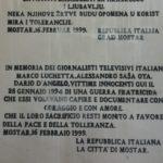 Cerimonia in Comune per i 25 anni dalla morte di Marco Luchetta, Alessandro Ota e Dario D'Angelo