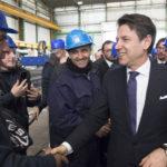 Il premier Conte alla cerimonia di inaugurazione dello stabilimento di Fincantieri Infrastructure