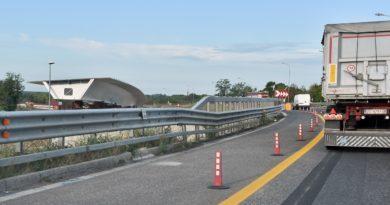 Terza corsia A4: nodo di Palmanova chiuso per i lavori del nuovo ponte