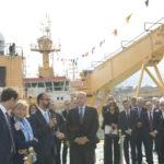 """Inaugurata la nave per la ricerca polare """"Laura Bassi"""" di OGS alla presenza del ministro Fioramonti. Le foto"""