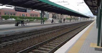 Principio d'incendio alla stazione di Pordenone, disagi alla circolazione dei treni