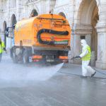 Coronavirus, incominciati gli interventi straordinari di sanificazione delle strade