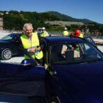 Prima auto in transito sul nuovo ponte di Genova