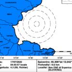 Terremoto di magnitudo 4,3 nei pressi di Bovec in Slovenia, avvertito in FVG e Veneto