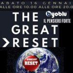 """L'evento culturale: """"The Great Reset"""". Il programma: relatori, orari e frequenze"""