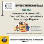 """Genitori e studenti in piazza Unità a Trieste contro la """"DAD"""""""