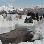 Zoncolan ancora innevato e al top: preparativi del Giro d'Italia e nazionale di sci sulle piste