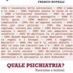 """Se """"l'impossibile diventa possibile"""": all'Antico Caffè San Marco si presenta """"Quale psichiatria?Taccuino e lezioni di Franco Rotelli"""""""