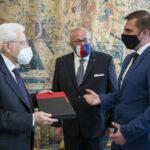 Il presidente della Repubblica Sergio Mattarella ha ricevuto i sindaci di Gorizia e Nova Gorica