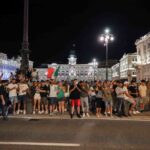 Negli occhi dei tifosi dell'Italia a Trieste, cronaca fotografica e video della vittoria all'Europeo