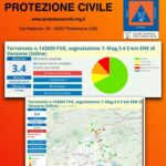 Terremoto di Magnitudo 3.4 a circa 8 km a Nord Est di Venzone, oltre 30 le segnalazioni